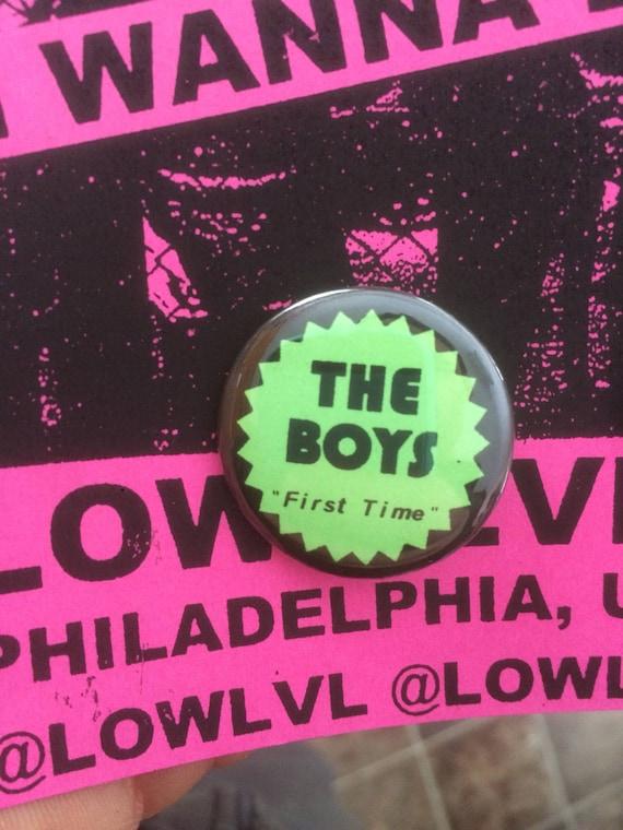 """The Boys 1.25"""" pinback button First Time punk powerpop"""