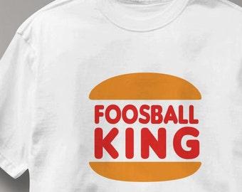 Foosball T Shirt King Foosball King Tee Shirt Mens Womens Ladies Youth Kids