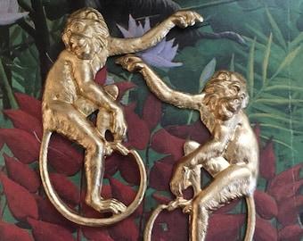 Restrikes of Victorian Era Monkeys  (1 pair)