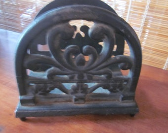 cast iron letter holder,  desk accessories cast iron
