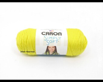 Caron Simply Soft Yarn, Lemonade, 6oz