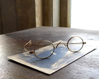 Antique Straight Temple Spectacles