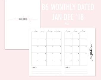 B6 TN Monthly 2018 PINK (Jan - Dec)