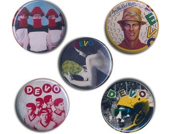 Devo Buttons Pin Badges 25mm 1inch Badge Button Punk Are We Not Men We Are Devo