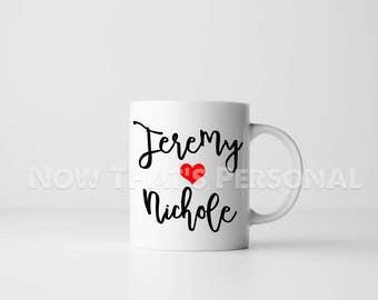 Custom name mug - personalized mug - name mug - anniversary gift - love mug - gift for boyfriend, girlfriend - mug for boyfriend, girlfriend