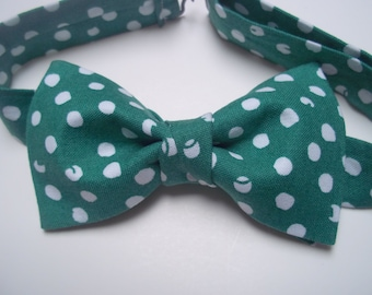 St Patrick's Day Bow Tie-Green Polka Dot Bow Tie-Green Bow Tie-Green Bow Tie-Toddler Bow Tie