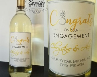 Personalized Wine Bottle -- LABEL ONLY
