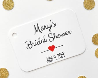 Bridal Shower Favor Tags, Customized Shower Tags, Bridal or Baby Shower Favor Tags (RR-006)