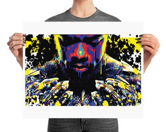 Black Panther Pop Home Decor Wall Art Print