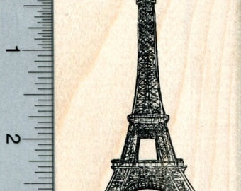 Eiffel Tower Rubber Stamp, Paris France, World Travel Series K33216 Wood Mounted