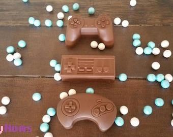 Chocolate Game Controllers, Playstation, Nintendo, Sega, Retro, Geek Candy, NES, Genesis, 16 bit, Console Gaming, Nostalgia