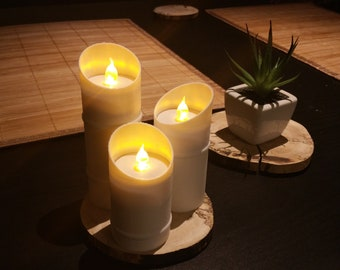 Bamboo Candles (Set of 3)