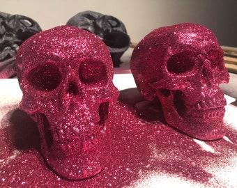 Pink glitter skull