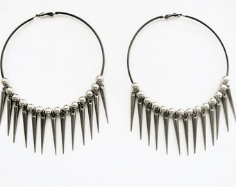 Miss Capulet Spiked Hoop Earrings. FAST Shipping with Tracking for US Buyers. Gift Box Included in Purchase.