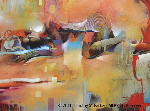 Abstract Figure Art Figure Painting Reproduction Thermal-5116