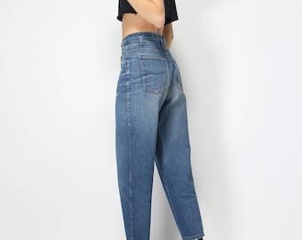 RESERVED -------- 4chiara  GIORGIO ARMANI vintage 80s - high waist - high rise tapered jeans - mom jeans - medium blue - w28 L32