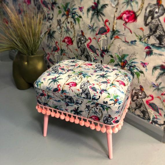 Velvet contemporary stool
