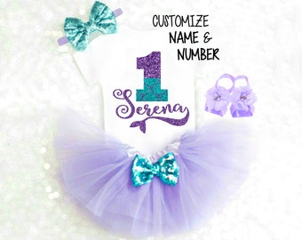 Mermaid Birthday Outfit, First Birthday Outfit Mermaid 1st Birthday Outfit Under the Sea Birthday Outfit Mermaid Tutu Turquoise 18