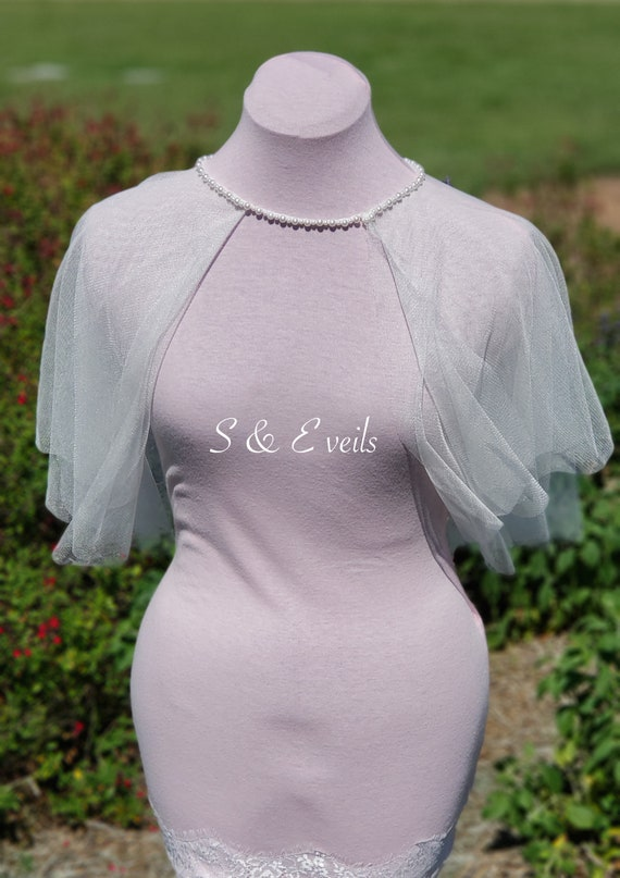 Wedding Cape with Pearl Necklace
