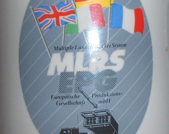 US Army MLRS Multiple Launch Rocket System  beer stein circa 1980s