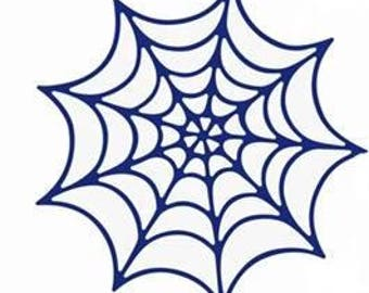 Cut scrapbooking spiderweb for halowen lot of 10 pieces
