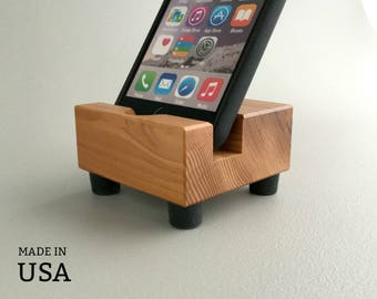 Smartphone Charging Stand, Wood Docking Stand, USA Made, Smartphone Dock, Smartphone Stand, Charging Stand, Docking Station, Docking Stand