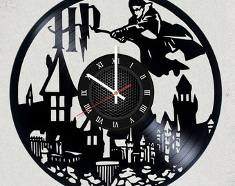 Harry Potter Vinyl record Clock Size 12 inches / 30 cm HARRY POTTER gift for kids Harry Potter party decor Harry Potter Vinyl record Clock