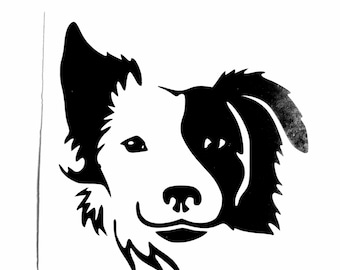 DIY Border Collie #1 Vinyl Decal Dog, Man's Best Friend. Laptop, Tablet Decal, Car Window, Glassware decal, Drinkware, Cell Phone, Dog Lover