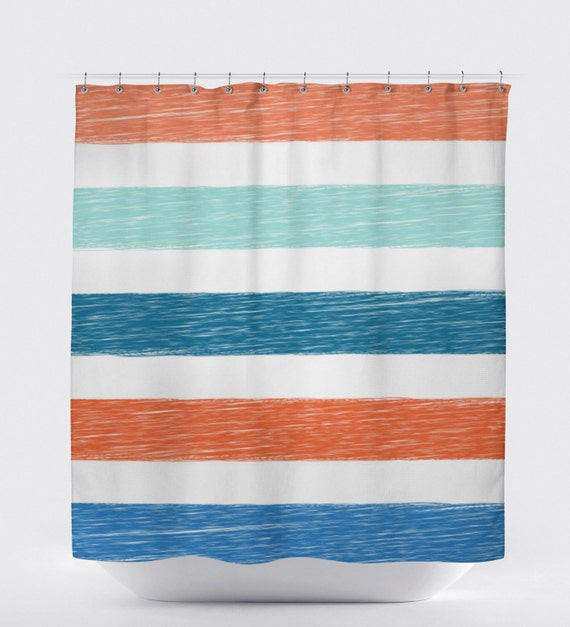 Kids Shower Curtain Boys Beach Bathroom