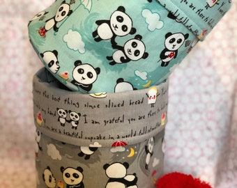 Panda bucket, panda basket, panda love, birthday gift