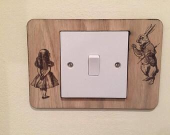 Alice in wonderland light switch surround