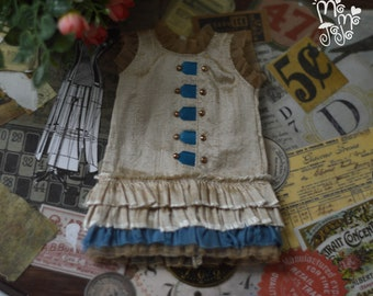 Shabby Chic Antique Dress/Outfit for Blythe/Pullips Dress/ Licca/ Azone A88