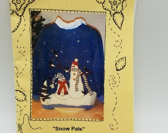 Crawford Designs 074 Snow Pals Appliqued Jacket Pattern with Buttons