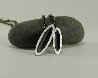 Simple Sterling Ovals Necklace - N1280