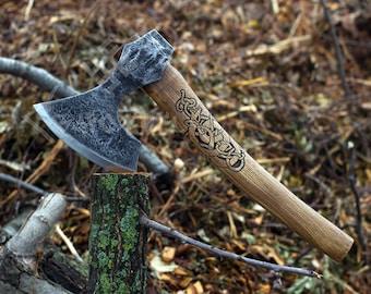 Hand forged Viking Age Baltic/Slavic Axe, hand crafted axe, handmade axe, carpenter's axe, Carpenter's Hatchet