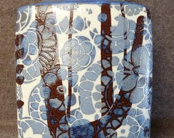 BACCA Line Pottery Vase By Royal Copenhagen Fajance Designed By Johannes Gerber