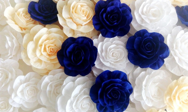 12 royal blue prince giant large paper flowers backdrop decor zoom izmirmasajfo Choice Image