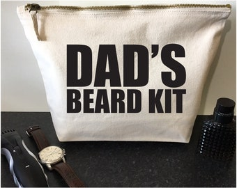 Beard Kit Bag Dads Beard Kit Fathers Day Gift For Him Gifts For Dad Gift Mens Gift Shaving Bag Wash Bag Beard Gifts Beard Grooming Kit Bag