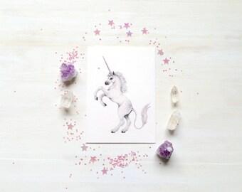 The little Unicorn - mini print