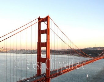 Golden Gate Bridge Photo Print, Bay Area Photo/San Francisco Photo Print/Travel Photography, California Bridge Architecture, Landmark Bridge