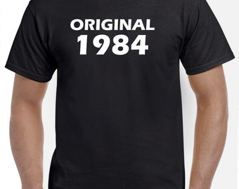 34th Birthday Shirt Gift-Original 1984