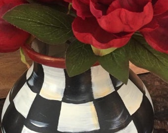Hand Painted Whimsical Vase~