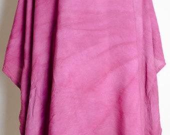 Tulip flower handmade womens dress Indian Meditation Rayon india print Top Shirt yoga pink red Tunic plus size 2x xxl xxxl 3x 4x dressy