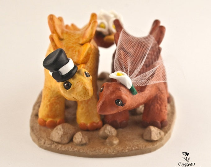Stegosaurus Dinosaur Wedding Cake Topper