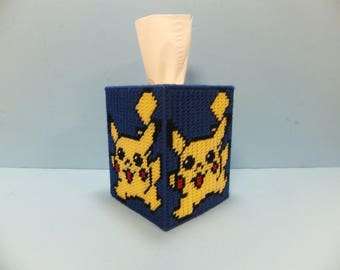 Pokemon PIKACHU Boutique Style Plastic Canvas Tissue Topper blue/yellow