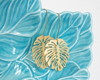 Monstera Leaf Earrings | ATL-E-200