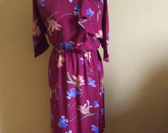 1970's Floral Dress by Kim