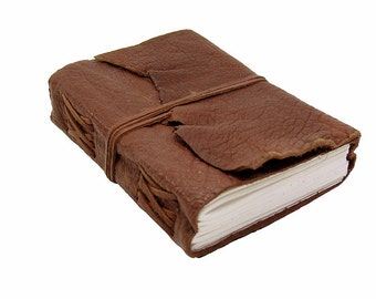 Leather book Terra in Buffalo Leather - diary, journal, notebook or travel diary