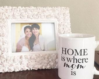 Mother's Day Gift, Gift for Mom, Home is Where Mom is Mug, Coffee Mug, Gift for Her, Unique Coffee Mug, Christmas Gift,  Gift for Wife