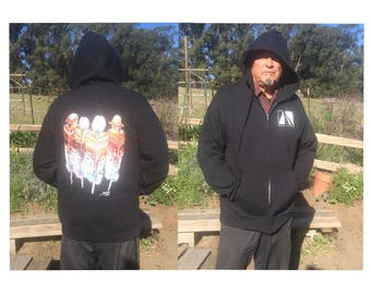 Zippered Hoody with Image of Honoring our Elders